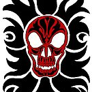 Black and Red SKull by redqueenself