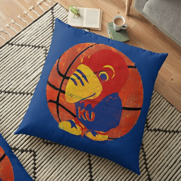 Old Time KU Jayhawk Basketball Floor Pillow