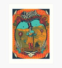 Art Grateful Dead Summer Company FOlsom FIeld Boulder. CO Art Print