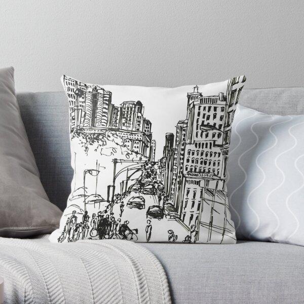 54th Street Ave Throw Pillow