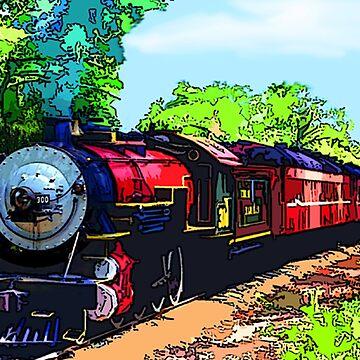 Colorful Steam Train by CarloVaro