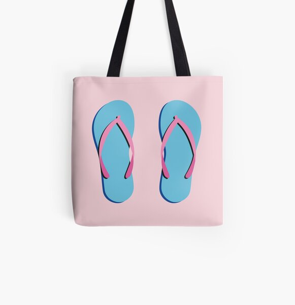 Beach Flip Flop All Over Print Tote Bag