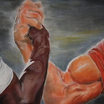 Epic handshake by adjua