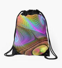 Curling up, Abstract Fractal wallart Drawstring Bag
