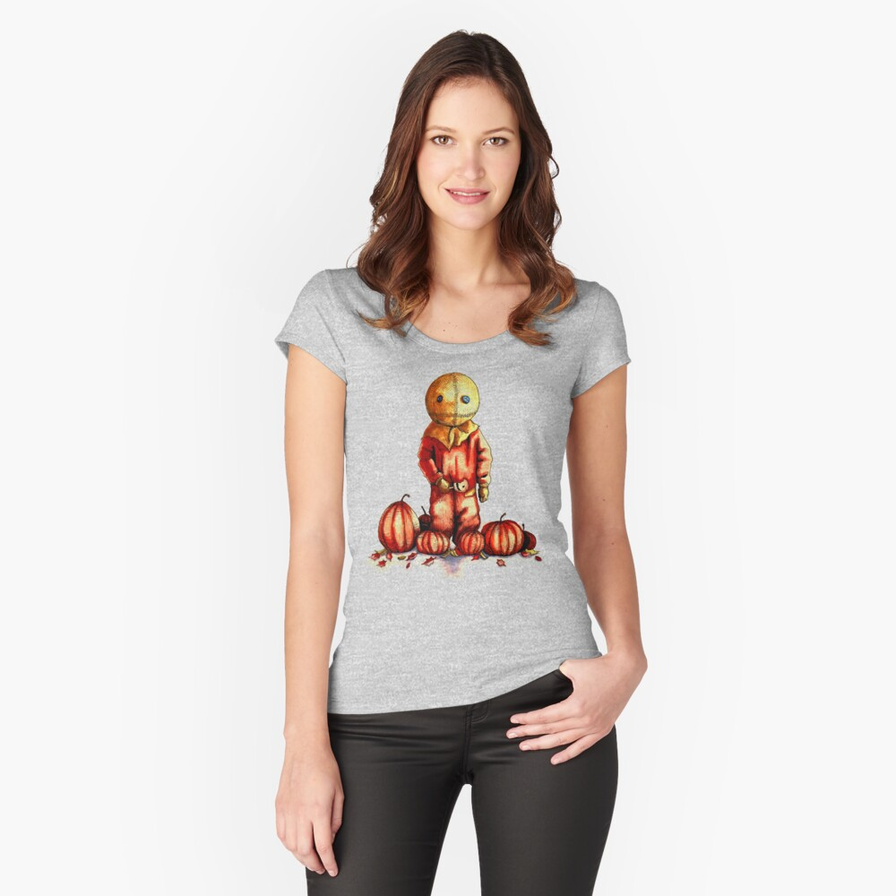 Trick R Treat Sam Women's Fitted Scoop T-Shirt Front