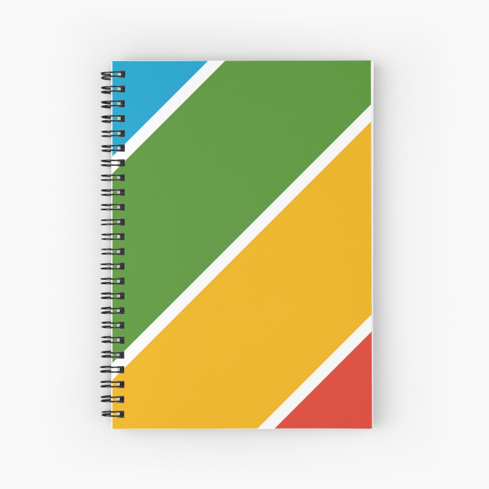 Colorful Diagonal Stripes Spiral Notebook