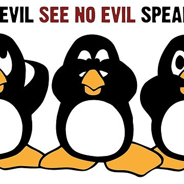 Three Wise Penguins Design Graphic by ironydesigns