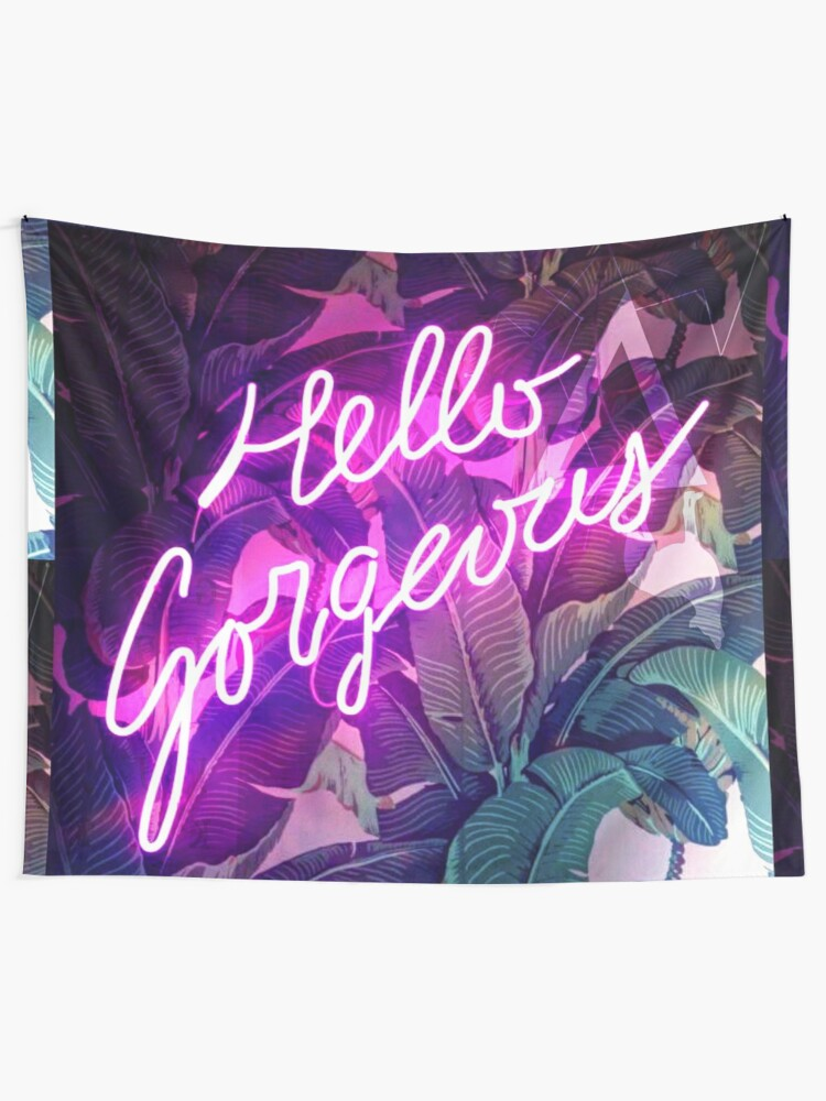 Alternate view of Hello Gorgeous Tapestry
