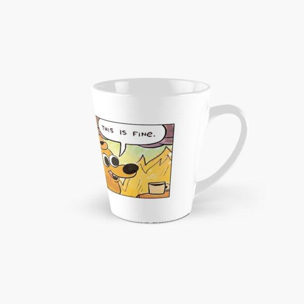 This Is Fine Meme Dog Tall Mug