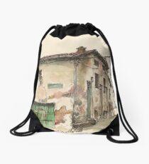 Casa frente a La Cueva Drawstring Bag