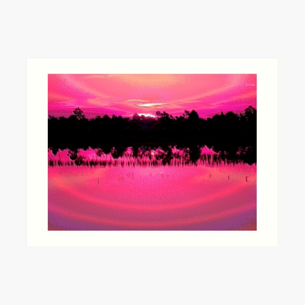 Hot Pink Sunset Art Print