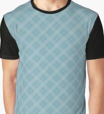 Christmas Icy Blue Velvet Diagonal Tartan Check Plaid Graphic T-Shirt