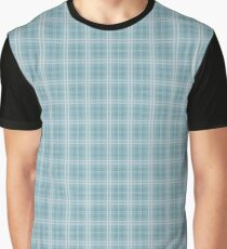 Christmas Icy Blue Velvet Tartan Check Plaid Graphic T-Shirt