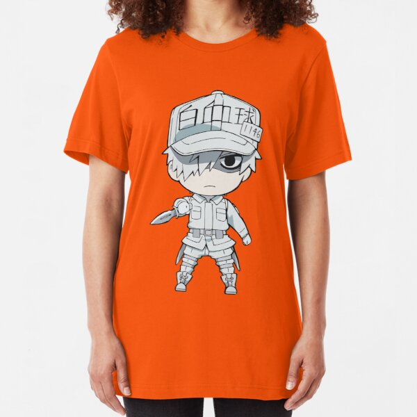 Cells at Work- White Blood Cell Slim Fit T-Shirt