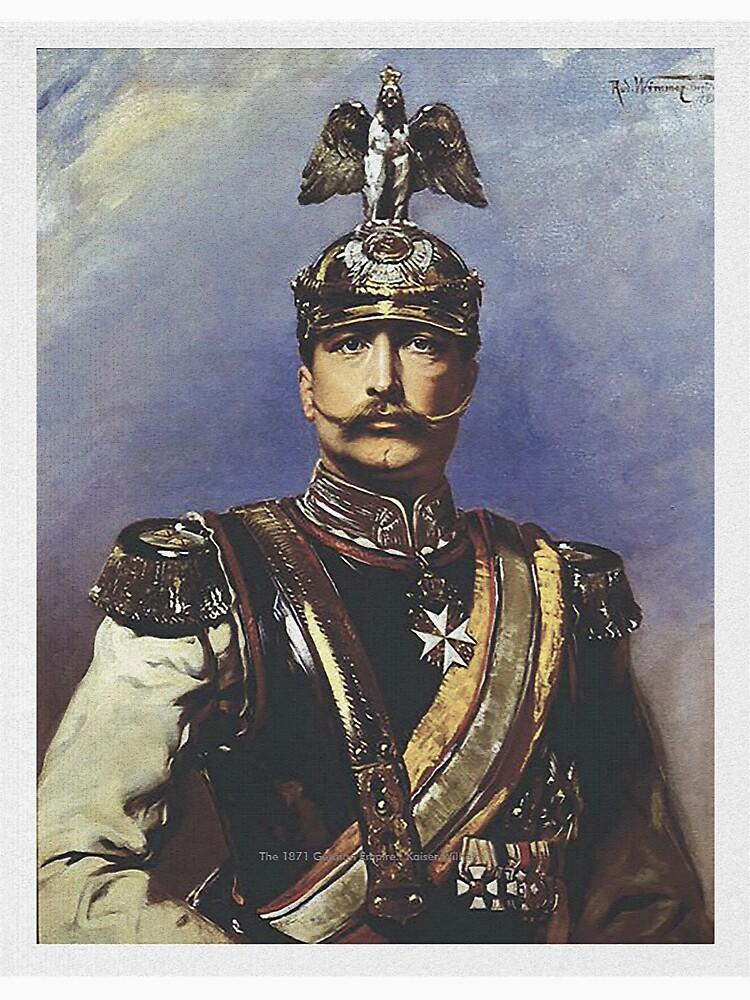 Kaiser Wilhelm II with Prussian Royal Guards helmet  by edsimoneit