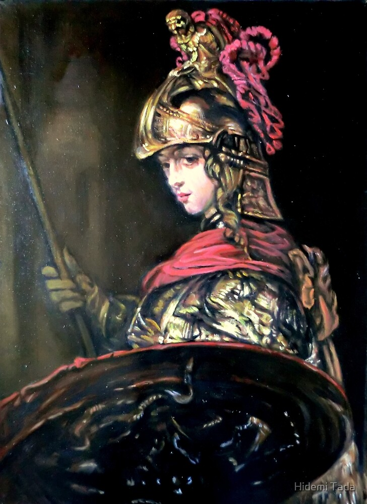 Pallas Athena after Rembrandt by Hidemi Tada