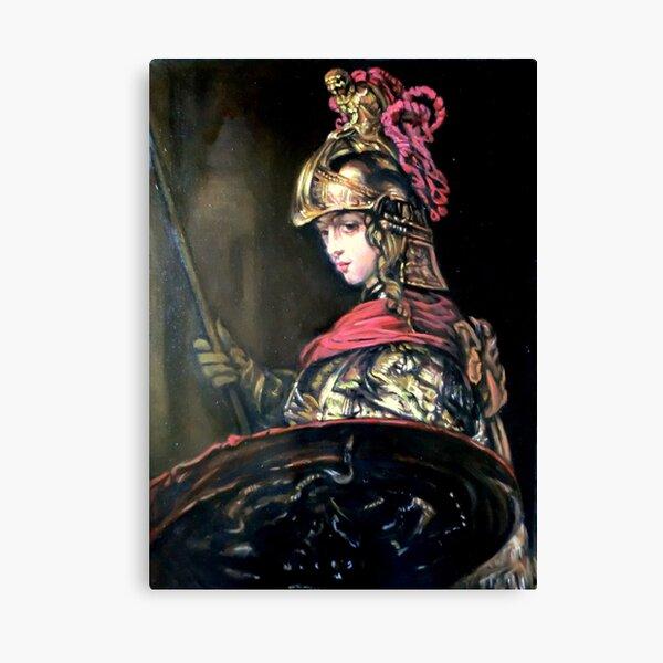 Pallas Athena after Rembrandt Canvas Print