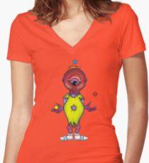 We Monster- 6 Women's Fitted V-Neck T-Shirt