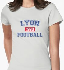 Lyon Football Athletic College Style 1 Gray Women's Fitted T-Shirt