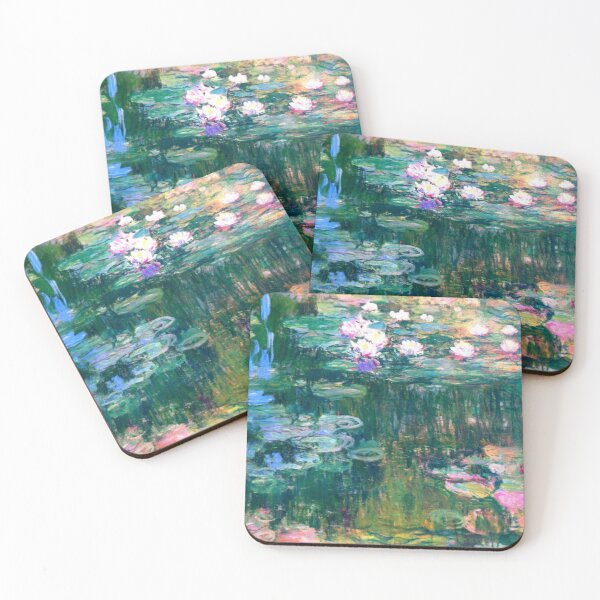 Water Lilies monet  Coasters (Set of 4)