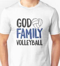 God Family Volleyball T-Shirt Women Men Girls Player Gift Unisex T-Shirt