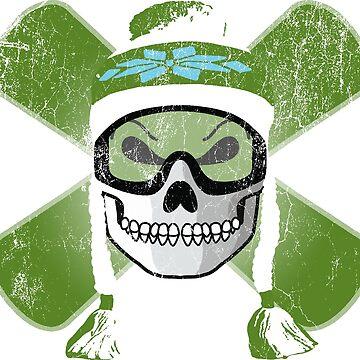 Board Skull - Green | DopeyArt by DopeyArt