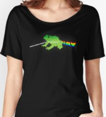 They're Turning the Frick'n Frogs Gay! Women's Relaxed Fit T-Shirt