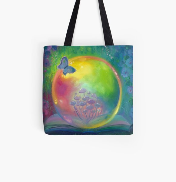 Blossom Original oil painting All Over Print Tote Bag