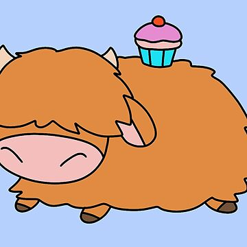 Cupcake Highland Cow by SaradaBoru