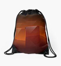 Red Sheen Design Drawstring Bag