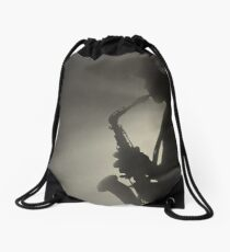 Saxaphone Player Saxophone very cool image Drawstring Bag