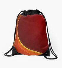Red Swirl Design Drawstring Bag
