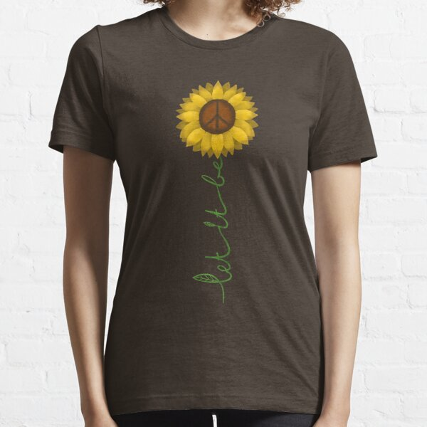 Let it be - hippie nature peace sign Essential T-Shirt