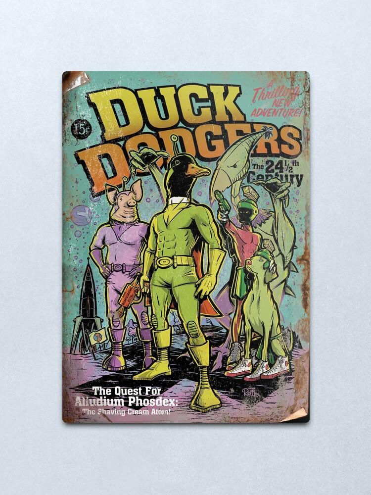 Alternate view of Space Duck Pulp Metal Print