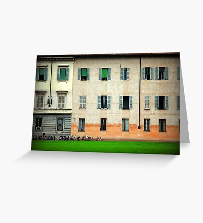 House and bicycles Greeting Card