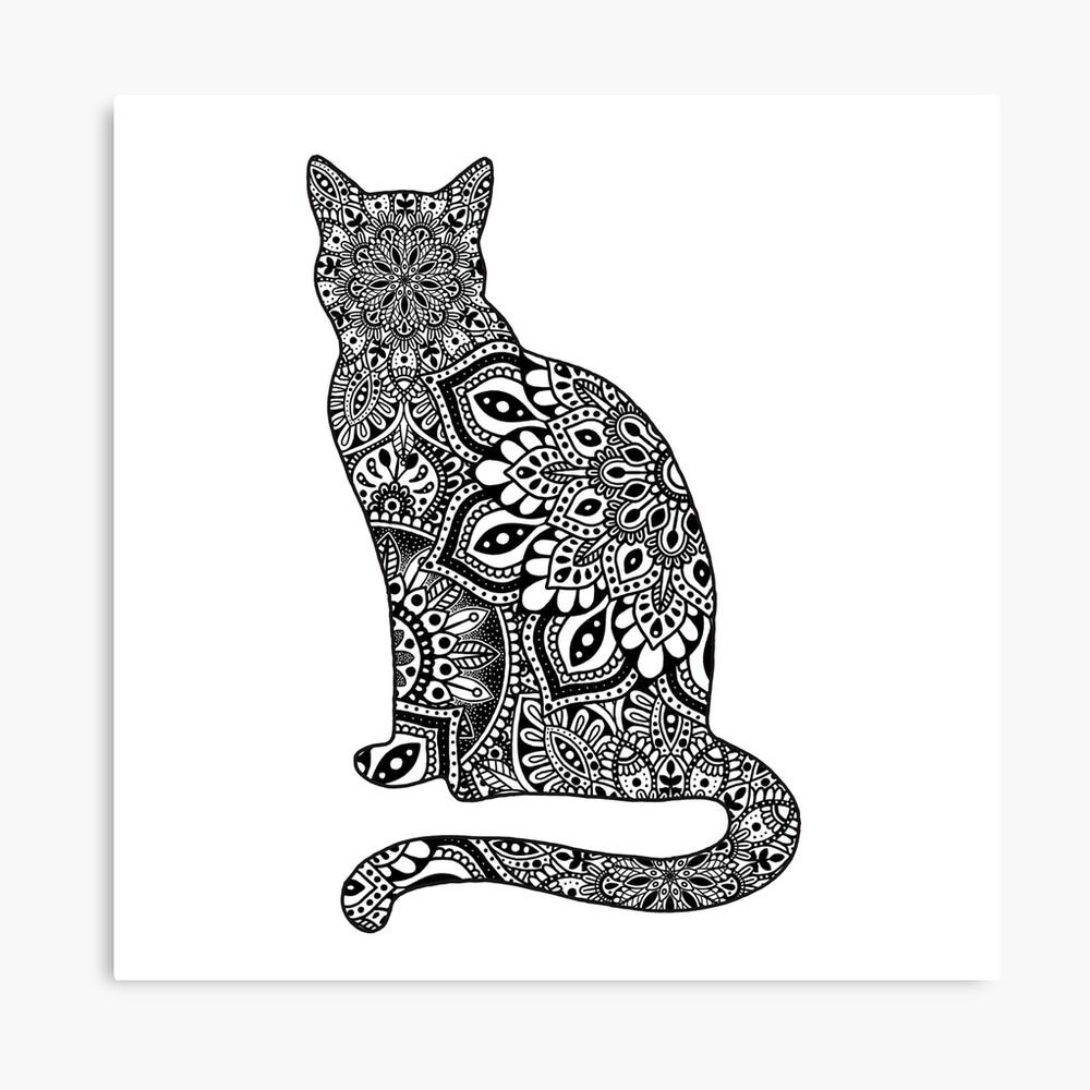 Gato de Mandala Lienzo