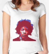 Camiseta entallada de cuello redondo Jimi Hendrix