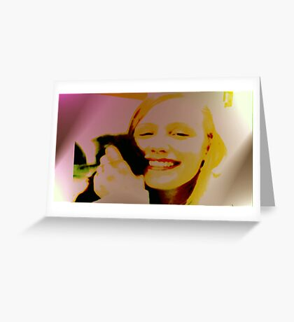 10by10 Happyface Greeting Card