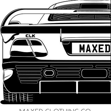 Merc CLK GTR (black and white) by monstta