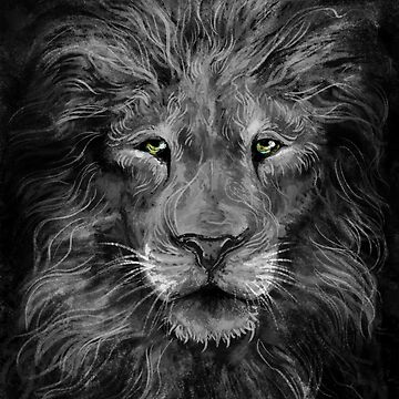 King of the Jungle - lion painting by carissalapreal