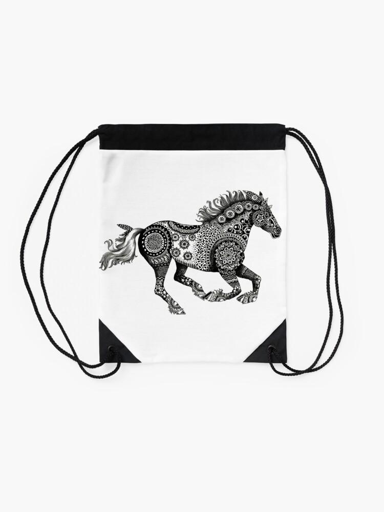 Running Horse design Tapestry Shoulder Bag