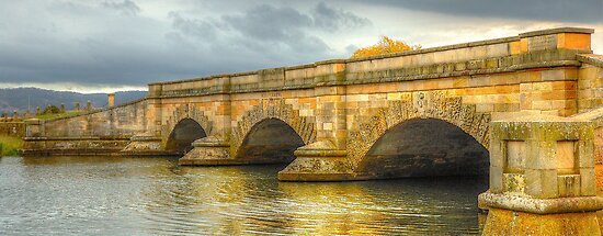 A River Runs Through It -Ross Bridge c1836 - Ross Tasmania - The HDR Experience by Philip Johnson