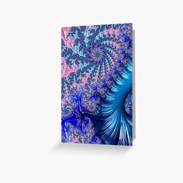 Spiraling Fractal Greeting Card