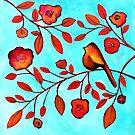 Bird On A Branch by Lisafrancesjudd