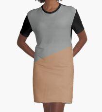 Geometric colorblocking fall Graphic T-Shirt Dress
