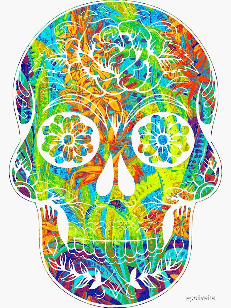 cool floral skull art by epoliveira