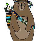 indian bear by wildmagnolia