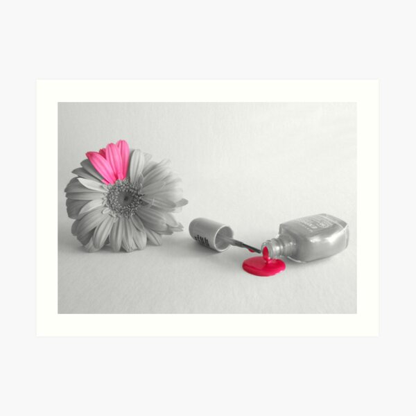 A Touch of Pink 1- Painting Colour Art Print