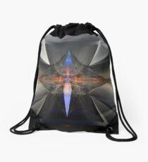 Four, Square Fluted Cones II Drawstring Bag