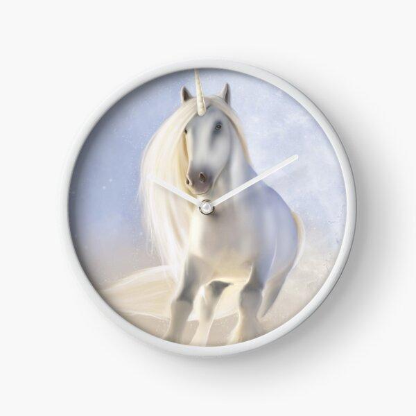 White Unicorn Clock